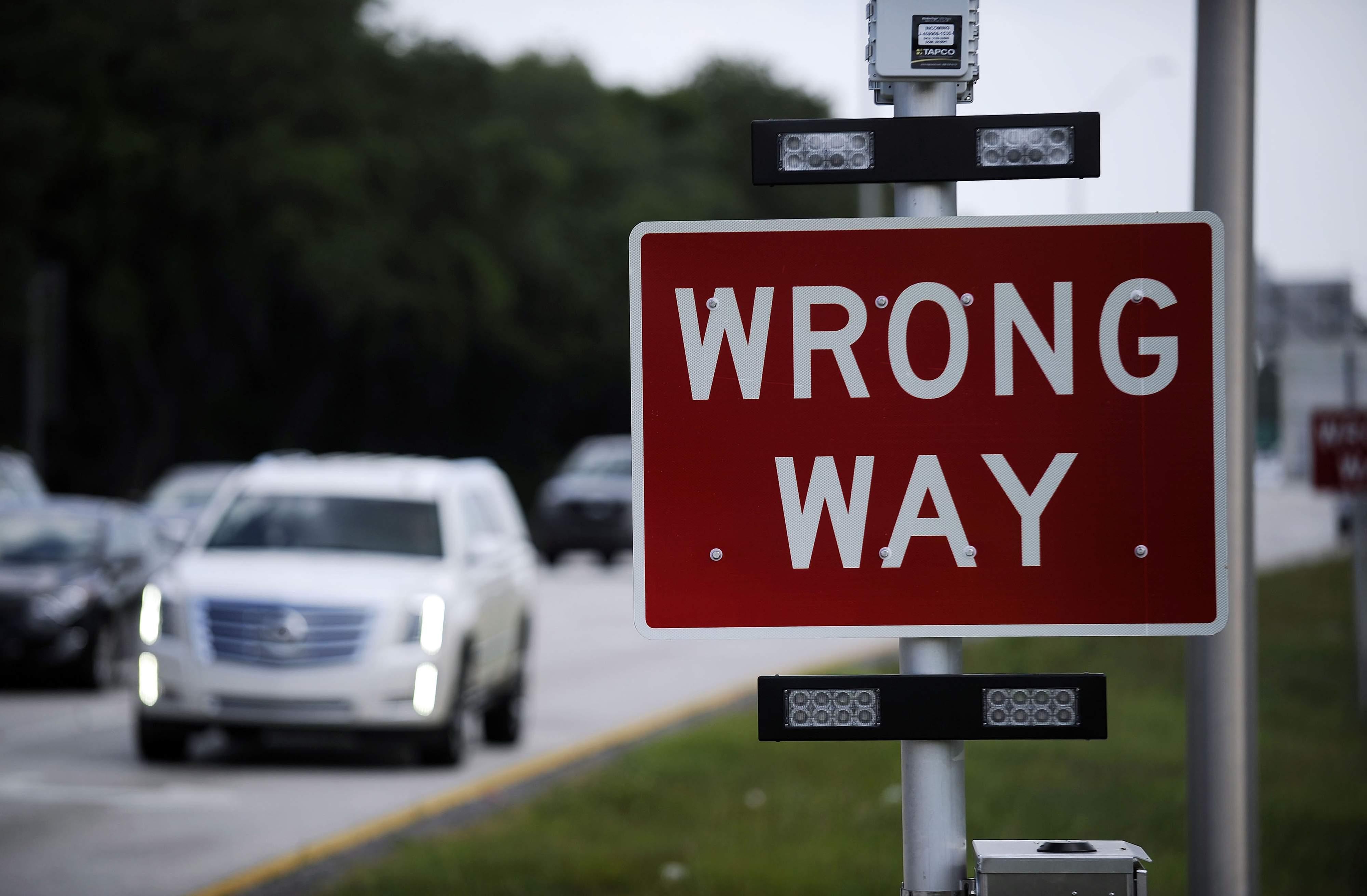 Car Driving Wrong Way